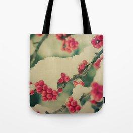 Winter Berry Tote Bag