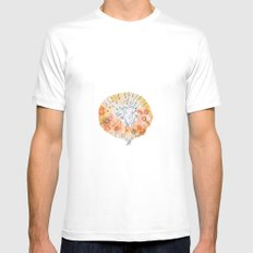 Meadow of rabbits MEDIUM Mens Fitted Tee White