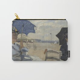 The Beach At Trouville by Claude Monet Carry-All Pouch