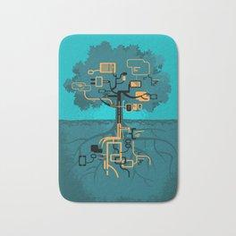 Digital Tree Bath Mat