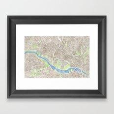 Richmond Virginia City Map Framed Art Print