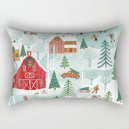 New England Christmas Rectangular Pillow