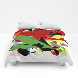 Forest of Colors, Abstract Art Comforters