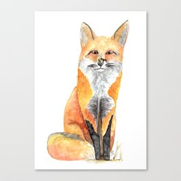 FOX AND BEE Canvas Print