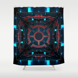 3D cube. Abstract ornament. Shower Curtain