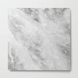 Grey Alley Marble Metal Print