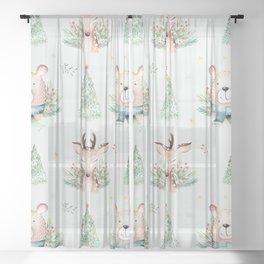 Winter wonderland 15 Sheer Curtain