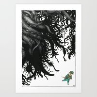 lovecraft Art Prints featuring Lovecraft 3 by Erwann Surcouf