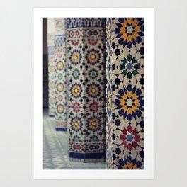 Flower Columns Art Print