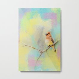 Song of the Waxwing Metal Print