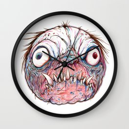 Rotten Head - Blue Nibbler Wall Clock