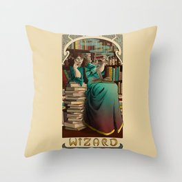 La Magicien - The Wizard Throw Pillow