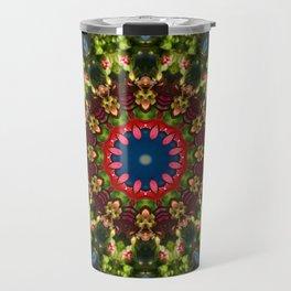 Red blossoms, Floral mandala-style Travel Mug
