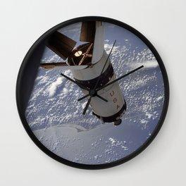 Apollo 7 - Saturn V over Cape Canaveral Wall Clock
