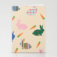 rabbits Stationery Cards featuring rabbits by vitamin