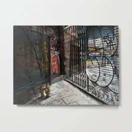 Force the corners, and horn in on the commotion, 6 Metal Print