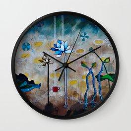Swan & Lotus Garden Wall Clock