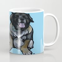 simba Mugs featuring Simba and Snuffaluffagus the Leonbergers by Pawblo Picasso