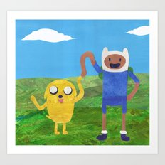 Finn And Jake! Art Print