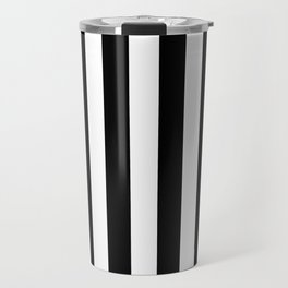 Parisian Black & White Stripes (vertical) Travel Mug