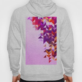 Colourful and Vibrant Geometric Nature on Ombre Pink Hoody
