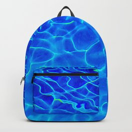 Blue Water Abstract Backpack