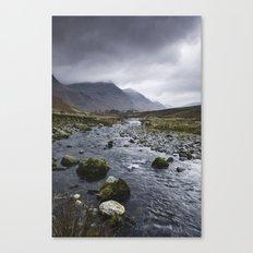 Rain clouds. Gatesgarth, Cumbria, UK. Canvas Print