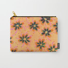 Orange Mint Lillies Carry-All Pouch