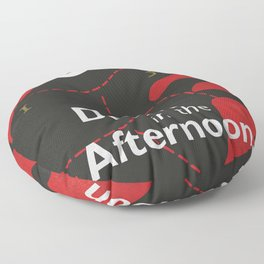 Ernest Hemingway book cover & Poster, Death in the Afternoon, bullfighting stories Floor Pillow