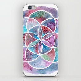 Watercolor Mandala II iPhone Skin