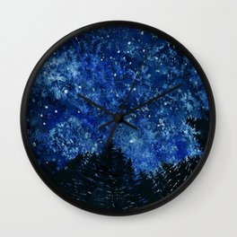 Stars in the Forest Wall Clock