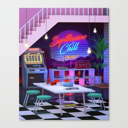 Synthwave And Chill Canvas Print