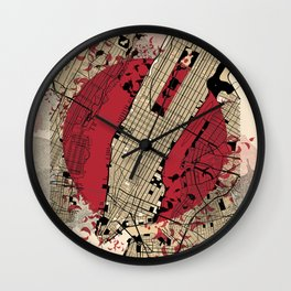 new york city map japanese style Wall Clock