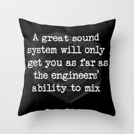 FUNNY QUOTES Sound Guy Gift Sound Engineer Sound Throw Pillow