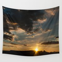 brasil Wall Tapestries featuring Sunset At Jalapão - Brasil  by Claudia Araujo