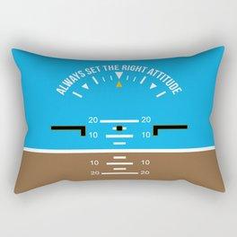 Right Attitude Rectangular Pillow