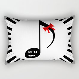 Music 72gon with Cute Eighth note Rectangular Pillow