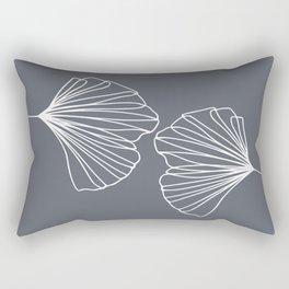 Ginkgo Leaves Grey Rectangular Pillow
