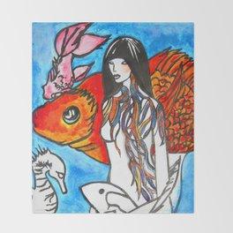 The Sea King's Daughter #society6 #decor #buyart Throw Blanket