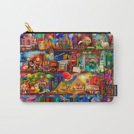 World Traveler Book Shelf Carry-All Pouch