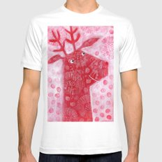 Reindeer MEDIUM Mens Fitted Tee White