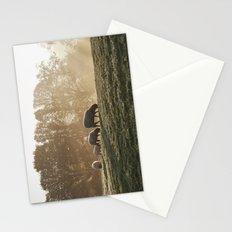 Sheep in fog at sunrise. Troutbeck, Cumbria, UK. Stationery Cards