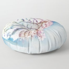 Mind in the Clouds Floor Pillow