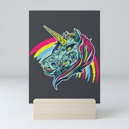Zombie Unicorn Mini Art Print