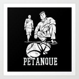 Petanque Game With Petanque Player Ball Art Print