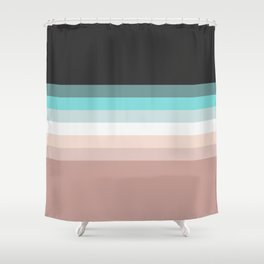 Charcoal, blue and pink pastel blend Shower Curtain