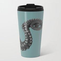OCTOPUS - tentacle , arm , animal , single , one , spiral Metal Travel Mug
