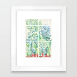 Winter in Glass Houses I Framed Art Print
