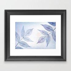 purple leafes Framed Art Print