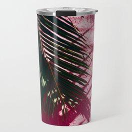 Pink Palm Tree Travel Mug